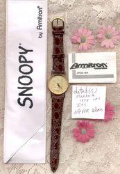 Vintage snoopy collectors quartz watch new in case